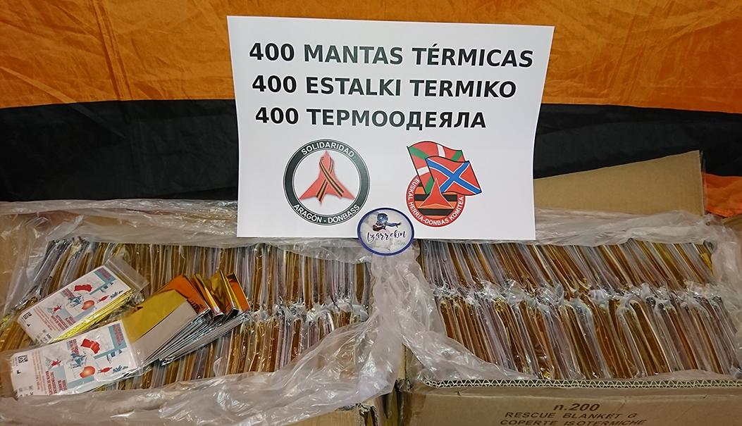 400 manta termiko prest Donbassera bidaliak izateko