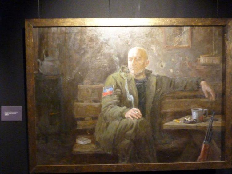 Alexey Kryukov errusiar margolariaren lana Donbasseko herriaren borrokan inspiratua