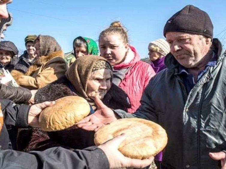 Holodomor en el Donbass. Mas de un millón de personas sufren por falta de alimentos y agua.