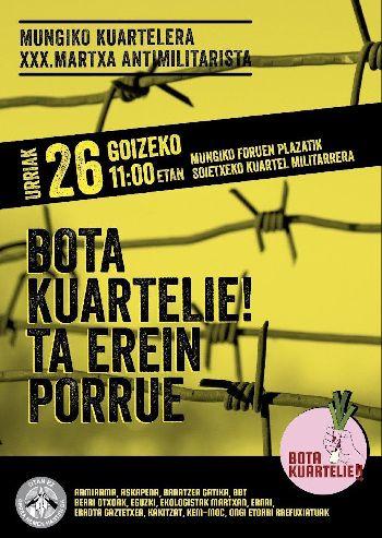 Mungiko Kuartelera XXX. martxa antimilitarista / OTAN ez!