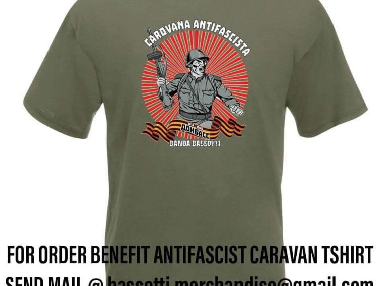 Camiseta de apoyo a la Caravana Antifascista de Banda Bassoti
