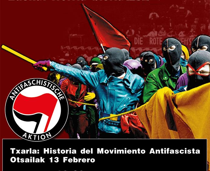 Charla sobre la historia del movimiento antifascista a cargo del hístorico militante antifa aleman Bernd Langer en Bilbao
