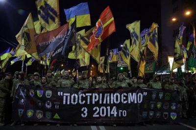 En Kiev la ultraderecha ucraniana se salta la cuarentena por el coronavirus y se manifiesta violentamente contra la embajada rusa
